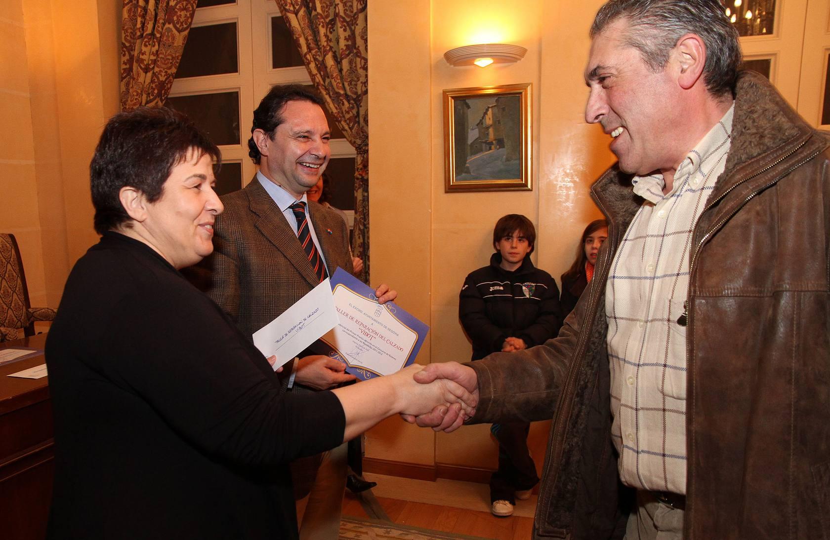 Entrega de premios a los ganadores del Concurso de Belenes de Segovia