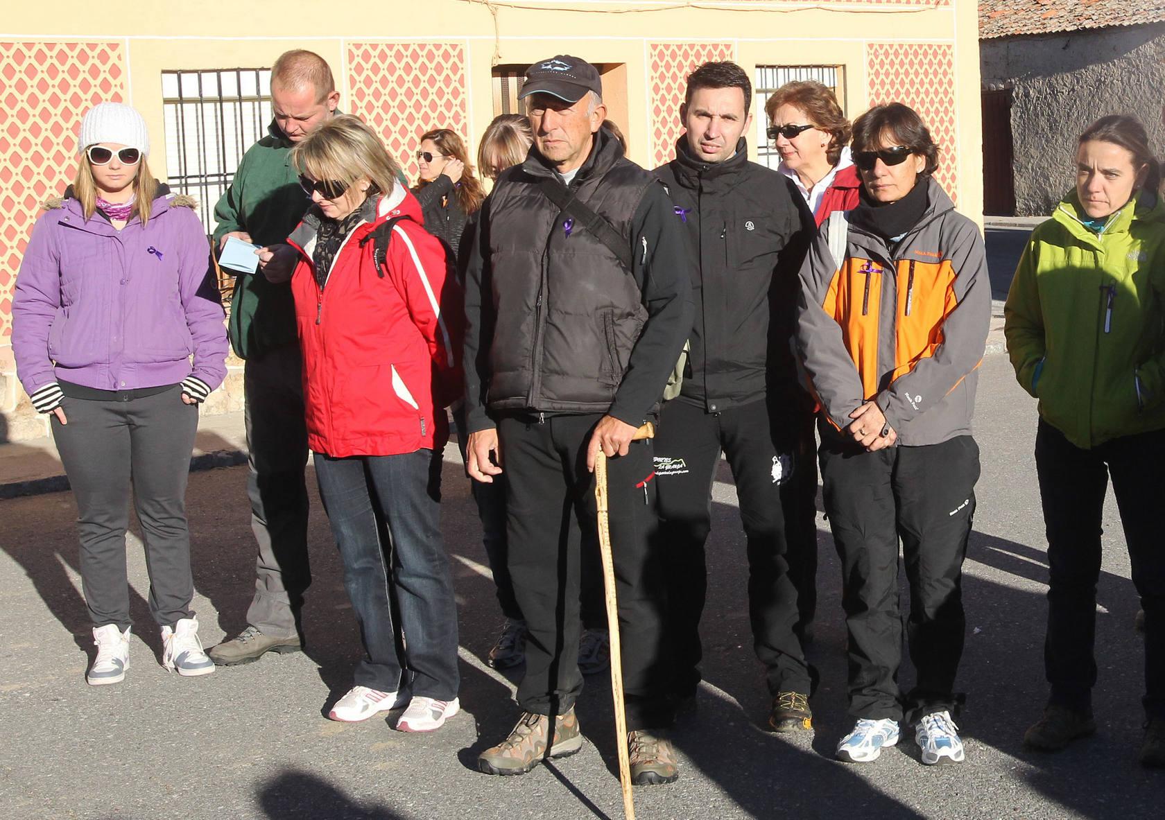 Manifestación en Torrecaballeros contra la violencia de género