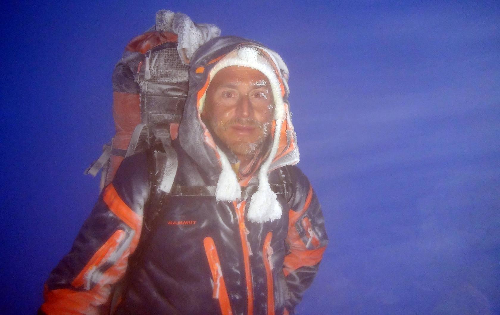 Paco Monedero en su ascenso al Monte Vinson