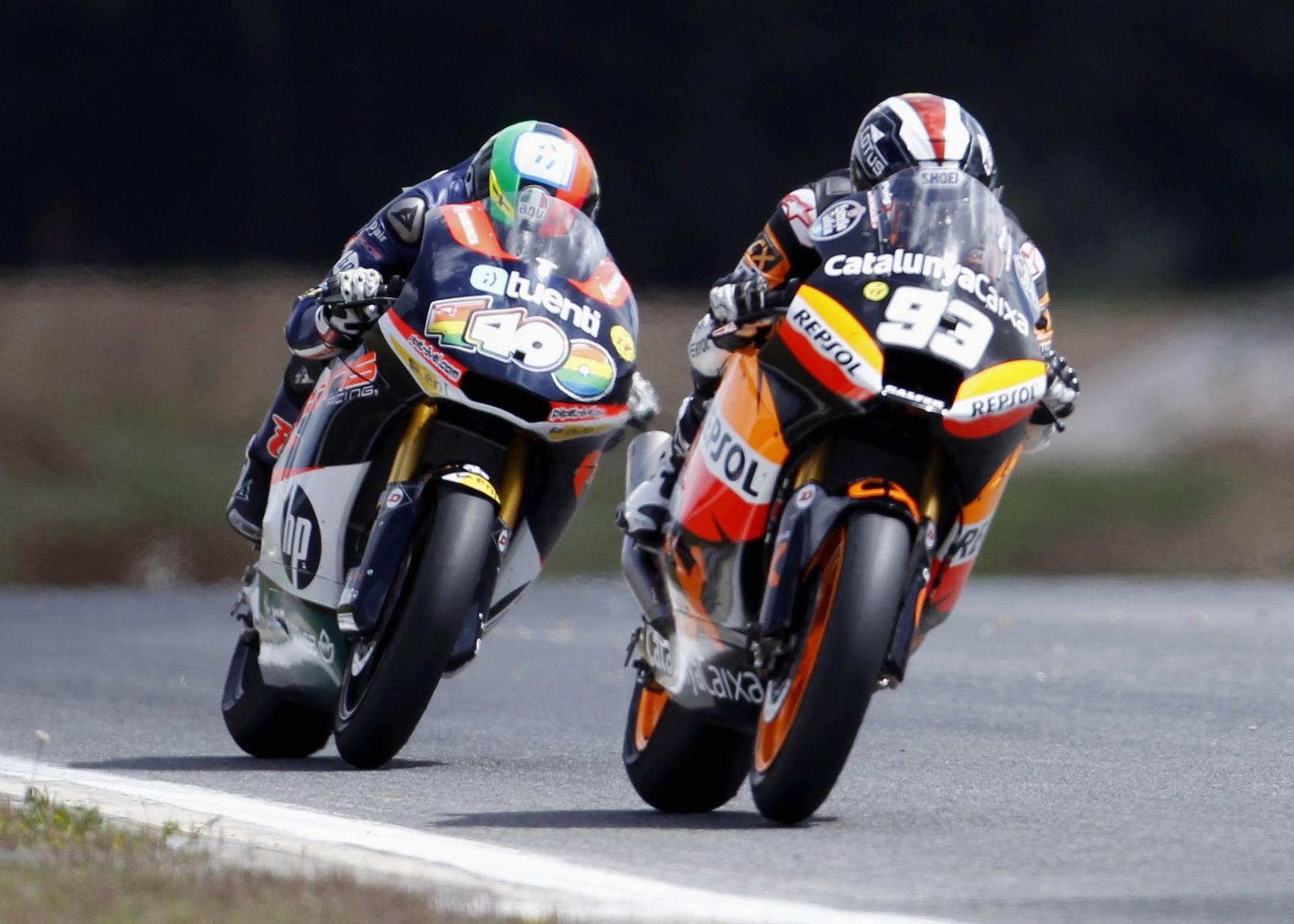 El español Marc Márquez gana la carrera de Moto2 en Estoril